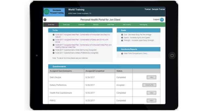 personal trainer client portal