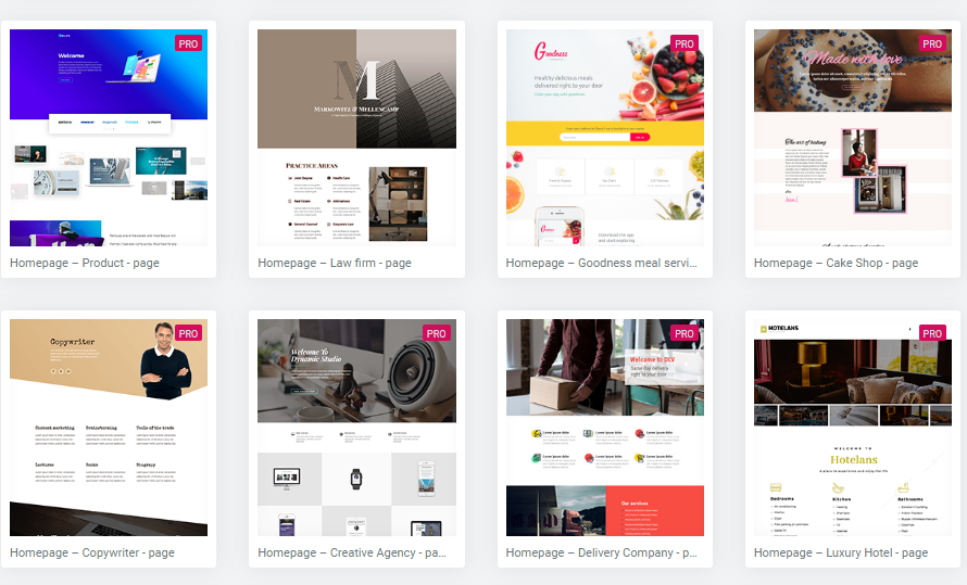 website theme examples