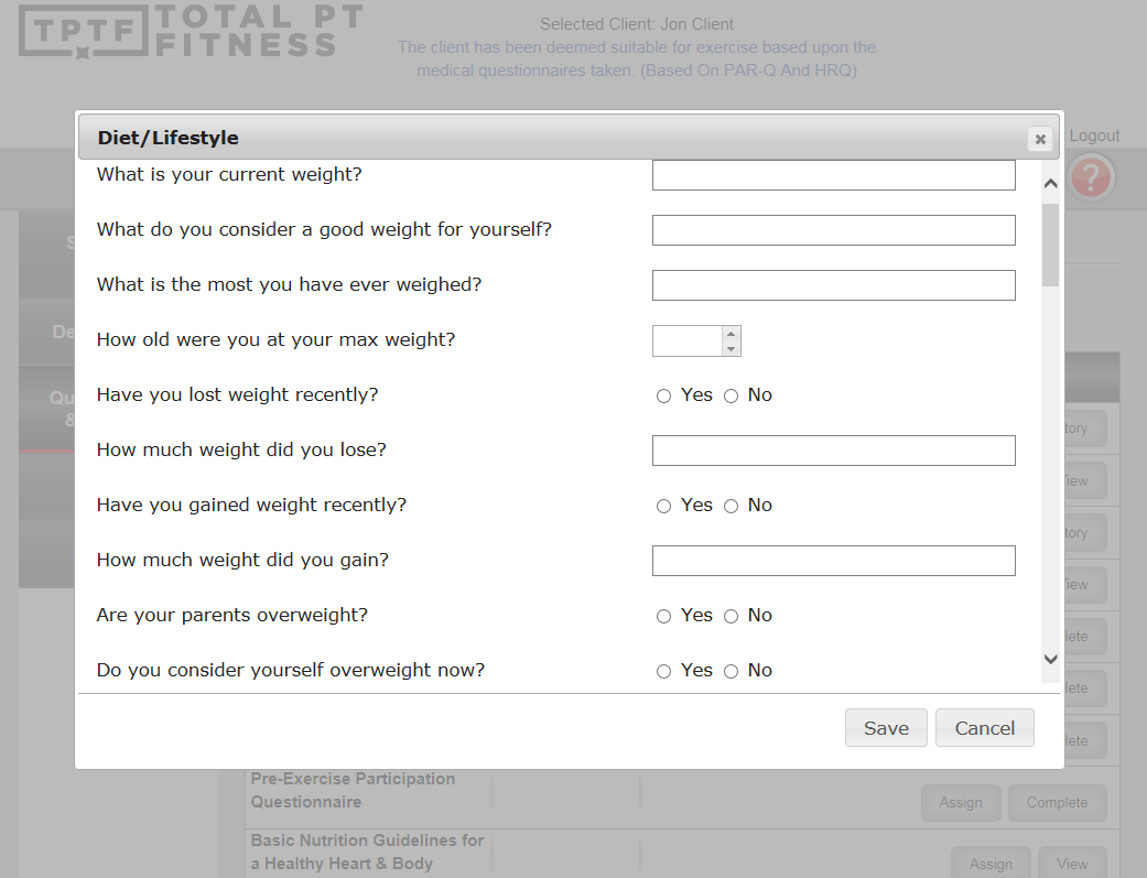 Fitness Software – Features | Total PT Fitness